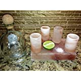 Himalayan Salt Tequila Shot Glass Set With Salt Plate