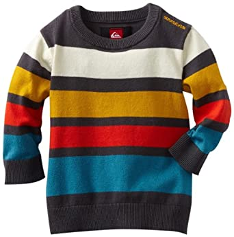 Quiksilver Baby-boys Infant Casting By Long Sleeve Crew Neck, Multi, 6-9 Months