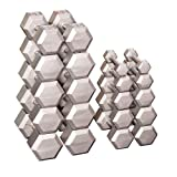 Grey Hex Dumbell Set