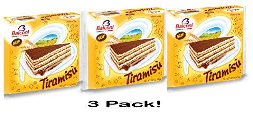 Imported Italian Balconi Tiramisu Torta 3 Packages