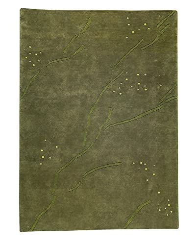 "MAT The Basics Path Rug, Green, 5' 6"" x 7' 10"""