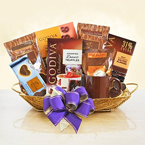 Godiva Godiva Coffee, Cocoa & Chocolate Gift Basket, Assorted