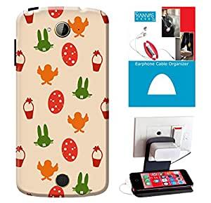 KanvasCases Printed Back Cover For Acer Liquid Z530 + Earphone Cable Organizer + Mobile Charging Holder/Stand