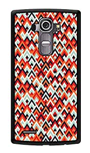 """Humor Gang Geometric Ethnic Pattern Printed Designer Mobile Back Cover For """"LG G4"""" (3D, Glossy, Premium Quality Snap On Case)"""