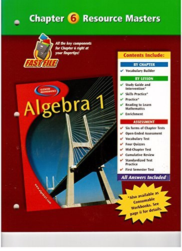 Algebra 1 Chapter 6 Resource Masters by Holliday (2006-04-01)