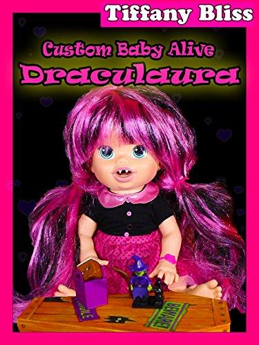 178b3c8e1e Draculaura Custom Baby Alive Monster High Doll Eats Strange Treats Poops  Surprise Toys