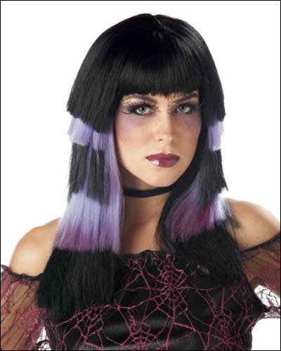 Club Chaos Black/purple Costume Wigs - 1