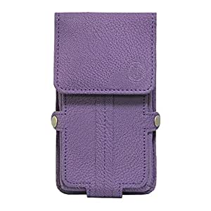 Jo Jo A6 G8 Series Leather Pouch Holster Case For Celkon C7030 Purple