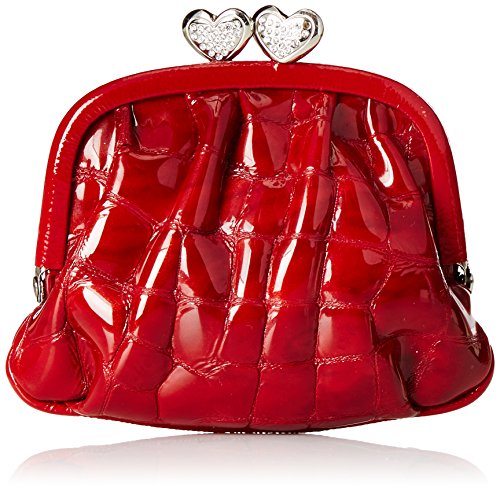 Brighton First Kiss Croc Coin Purse Cherry