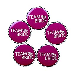 Madcaps Team Bride Badge (Set Of 5) (Black)
