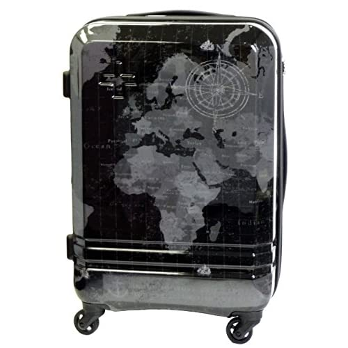 (シフレ)siffler 〔WORLD(ワールド)〕 55cm拡張式スーツケース H0010T-55_159 ワールドブラック HAPI+TAS(ハピタス)
