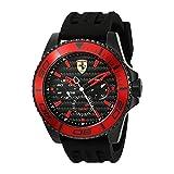 フェラーリ Ferrari Men's 'XX Kers' Quartz Stainless Steel and Silicone Casual Watch, Color:Black (Model: 0830310) [並行輸入品]