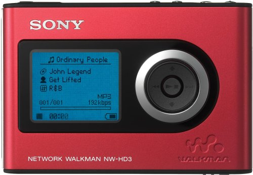 Sony NW-HD3 Network Walkman 20 GB Digital Music Player (Red)