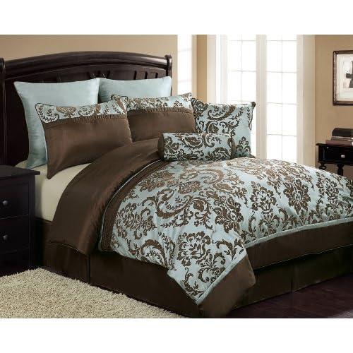 Compare Victoria Classics Daniella 8 Piece Flocked Comforter Set