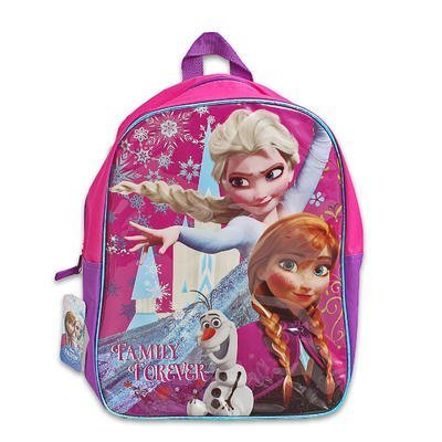 "Disney Frozen 16"" Sparkle Backpack with Elsa, Ana, Olaf Pink/purple"