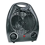 Comfort Zone 1,500 Watts Electric Portable Heater Fan with Built-in Adjustable Thermostat