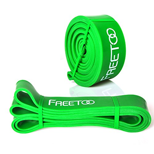 Exercise Rubber Bands Green: FREETOO Best Workout Rubber Band Resistance Bands Sporting