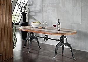 Massivholz Altholz Eisen lackiert Tisch 180x100 Massivmöbel Industrial-Stil Möbel massiv Industrial #04
