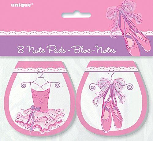 Tutu Ballerina Notepad Party Favors, 8ct