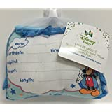 Mickey Mouse Birth Announcement Door Pillow w/ Pen, Blue