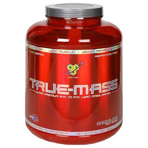 BSN True-Mass Ultra-Premium AM to PM Lean Mass Gainer, Chocolate Milkshake, 5.75 Pound