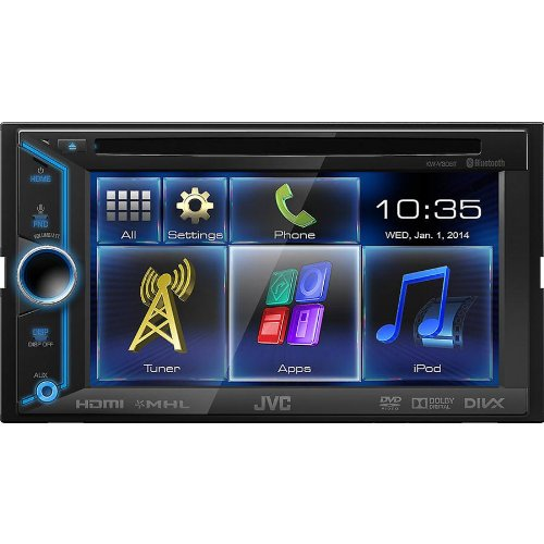 JVC KWV30BT 6.1-Inch LCD Detachable In-Dash Car Receiver with Bluetooth