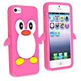 eForCity Cute Cartoon Hot Pink Penguin Silicone Gel Case compatible with Apple® iPhone® 5 / 5S Reviews