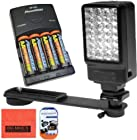 LED Video Light Kit For Sony HDR-PJ200 HDR-PJ230 HDR-PJ260V HDR-PJ380 HDR-PJ430V HDR-PJ580V HDR-PJ650V HDR-PJ710V HDR-PJ760V HDR-PV790V HDR-TD30V Camcorder Includes LED Video Light + NIMH Rechargeable Batteries + More!!