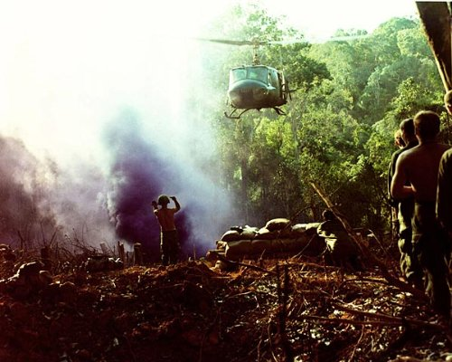 Vietnam War UH-1 Huey Helicopter Approach 11x14 Silver Halide Photo Print
