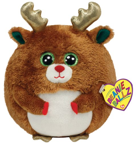 Ty Beanie Ballz Mistletoe - Reindeer - 1