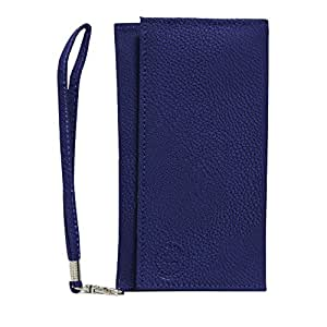 Jo Jo A5 G8 Leather Wallet Universal Pouch Cover Case For GFive D18 Indian Blue