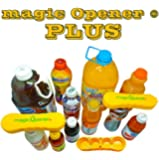 "magic Opener PLUS - Patented Bottle Opener to Open BIG caps from plastic bottles between 1.5"" thru 2.25"". Bottle Openers, Twist off - Twist Cap - Flip Tab - Arthritis helpers, Arthritis Aids, helps, Elderly assistive devices, Seniors aids, magnetic, ergonomic, Ring Pull - pull tab can openers."
