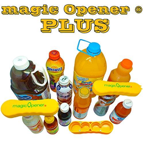 magic Opener PLUS - Patented Bottle Opener to Open BIG caps from plastic bottles between 1.5