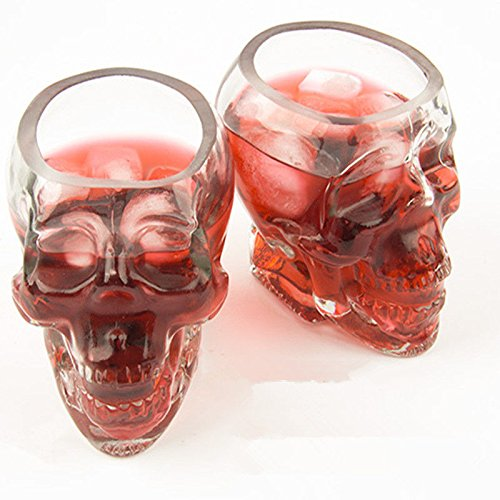 Skull Head Crystal Glass Vodka Shot Glass Whiskey Drinking Ware Home Bar Cup