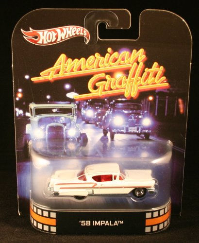 Hot Wheels Retro American Graffiti 1:55 Die Cast Car '58 Impala