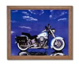 Harley Davidson Heritage Motorcycle Home Decor Wall Picture Oak Framed Art Print