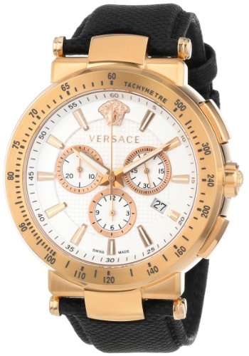 Versace Men's VFG070013 Mystique Sport 46mm Rose Gold Ion-Plated Coated Stainless Steel Chronograph Tachymeter Date Watch