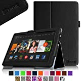 """Fintie Kindle Fire HDX 8.9 Folio Case Slim Fit Leather Cover (will fit Amazon Kindle Fire HDX 8.9"""" Tablet 2014 4th Generation and 2013 3rd Generation) - Black"""