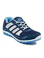 Asian Navy Blue And Light Sky Blue FEEL Women Range Running Shoes
