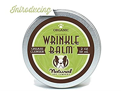 Natural Dog Company WRINKLE BALM - Organic, Vegan Healing Balm - Skin Fold Treatment, Yeast Infection control, Dermatitis, Dry Itchy Skin folds - 2oz/59m