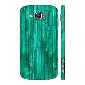 Enthopia Designer Hardshell Case Turquoise Wood Back Cover for Samsung Galaxy Grand Prime