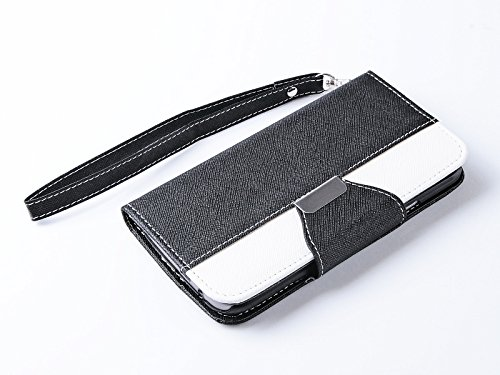 Mylife Black Piano Keys {Exquisite Design} Faux Leather (Card, Cash And Id Holder + Magnetic Closing) Slim Wallet For The All-New Htc One M8 Android Smartphone - Aka, 2Nd Gen Htc One (External Textured Synthetic Leather With Magnetic Clip + Internal Secur