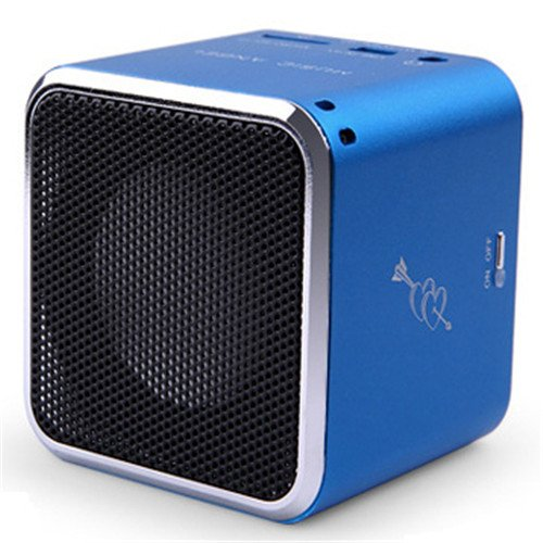 Baxia Mini Bluetooth Card Speakers (Blue)