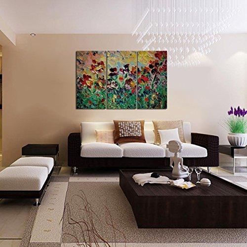 Pintura al oleo modernos flores - Pinturas para el hogar ...