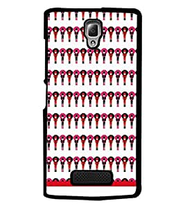 PrintDhaba Pattern D-1513 Back Case Cover for LENOVO A2010 (Multi-Coloured)