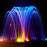 IMAGE 25W 200MA Submersible Underwatar 4 LED Multiple-color Fountain Light Kit For Outdoor Aquarium Fountain Garden Pool Christmas Party Wedding