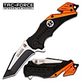 Tac-Force EMT Edition Spring Assisted 3mm Thick Stainless Steel 2 Tone Tanto Blade (TF-640EMT) Tactical Folding Knife, Includes Pocket Clip, Seat Belt