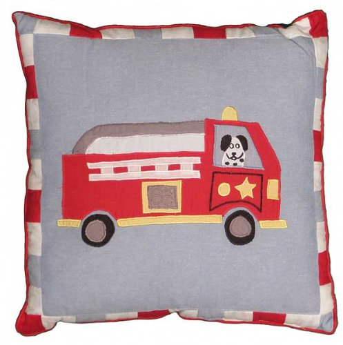 Cotton Fire Truck Pillow front-1044587