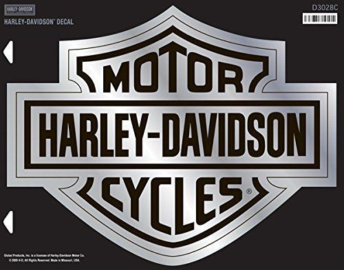 Harley-Davidson Chrome B&S 4X Decal (Chrome Harley Decal compare prices)