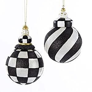 Amazon.com - Pack of 6 Black and White Striped and ...